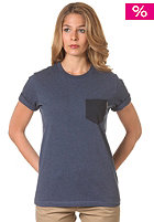 CARHARTT Womens X Contrast Pocket S/S T-Shirt blue penny heather/navy