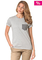 CARHARTT Womens X Contrast Pocket S/S T-Shirt grey heather/dark grey heather