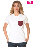 CARHARTT Womens X Contrast Pocket S/S T-Shirt white/cranberry heather