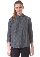 CARHARTT Womens X' Crandall L/S Shirt blue/copyright print, white rinsed