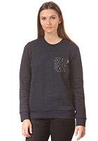 CARHARTT Womens X' Eaton Pocket Sweat jet heather/marlin pocket: leopard print oxford