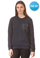 CARHARTT Womens X' Eaton Pocket Sweat jet heather/marlin pocket: leopard print oxford