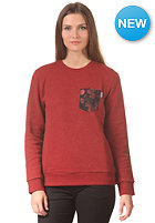 CARHARTT Womens X' Eaton Pocket Sweat tuscany heather/tuscany pocket: night print tuscany
