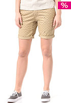 CARHARTT Womens X' Johnson Chino Short safari / black copyright print, rinsed
