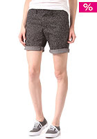CARHARTT Womens X' Johnson Chino Short sparrow / black flora print rinsed