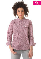 CARHARTT Womens X' Langley L/S Shirt cordovan flora allover print, rinsed