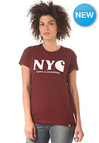 CARHARTT Womens X' New York City S/S T-Shirt bordeaux/white