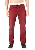 CARHARTT  Ziggy Pant Alabama Color Denim cranberry vintage washed
