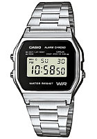 CASIO A158WEA-1EF silver/black