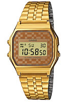 CASIO A159WGEA-9AEF gold-brown/checked