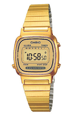 CASIO Womens LA670WEGA-9EF gold/gold