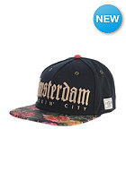CAYLER & SONS A-Dam Snapback Cap black/tulip weed camo/gold