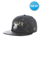 CAYLER & SONS Checkers Snapback Cap black suede/black/gold