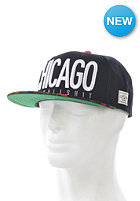 CAYLER & SONS Chicago City Snapback Cap black/red roses/white