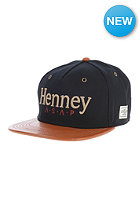CAYLER & SONS Henney Snapback Cap black/cognac leather/gold
