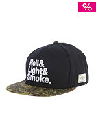 CAYLER & SONS Roll Light Smoke black/olive leaves/white