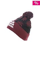 CAYLER & SONS Roll Light Smoke Pom Pom Beanie black/maroon/white