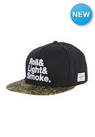 CAYLER & SONS Roll Light Smoke Snapback Cap black/olive leaves/white