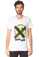 CHEAP MONDAY Bruce Printed Never Mind S/S T-Shirt white