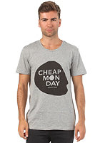 CHEAP MONDAY Bruce Printed S/S T-Shirt grey melange