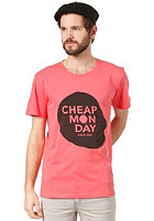 CHEAP MONDAY Bruce Printed T-Shirt poppy red