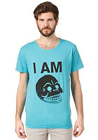 CHEAP MONDAY Tor Printed S/S T-Shirt turquoise