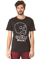 CHEAP MONDAY Tor Printed Skull S/S T-Shirt washed black