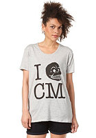 CHEAP MONDAY Womens Easy I Skull CM S/S T-Shirt grey melange