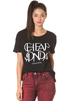 CHEAP MONDAY Womens Easy Printed CM S/S T-Shirt black