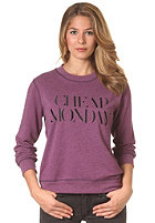 CHEAP MONDAY Womens Ellie CM Sweat plum melange