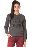 CHEAP MONDAY Womens Ellie Skull Sweat charcoal melange