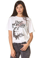 CHEAP MONDAY Womens Perfect Lazer Kitty S/S T-Shirt white