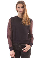 CHEAP MONDAY Womens Shrug Sweat dark concrete plum