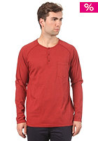 CLEPTOMANICX Ace L/S T-Shirt dried tomato