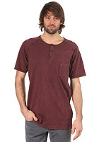 CLEPTOMANICX Ace Loose S/S T-Shirt burgundy