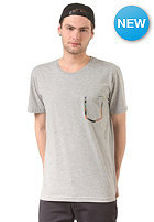 CLEPTOMANICX Aquareal Pocket S/S T-Shirt heather gray
