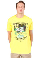 CLEPTOMANICX Cheer S/S T-Shirt blazing yellow