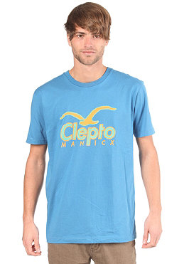CLEPTOMANICX CI Pen S/S T-Shirt port blue