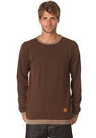CLEPTOMANICX Dem Stripes Knit Sweat dark brown