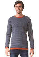 CLEPTOMANICX Dem Stripes Knit Sweat dark navy