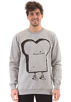 CLEPTOMANICX Gigatoast Sweatshirt heather gray