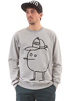CLEPTOMANICX Gigazitrone Sweatshirt heather gray