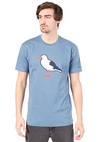 CLEPTOMANICX Gull Basic S/S T-Shirt captains blue