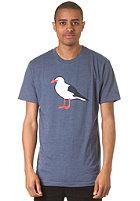 CLEPTOMANICX Gull S/S T-Shirt heather blue