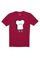 CLEPTOMANICX Kids Toast S/S T-Shirt beetrot
