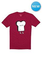 CLEPTOMANICX Kids Toast S/S T-Shirt beetrot