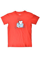 CLEPTOMANICX Kids Toaster S/S T-Shirt red