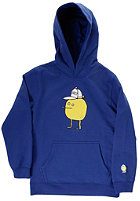 CLEPTOMANICX Kids Zitrone Hooded Sweat soda blue