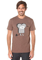 CLEPTOMANICX Knacki Toast S/S T-Shirt heather brown