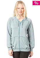 CLEPTOMANICX Kosmo Hooded Zip Sweat heather spruce green